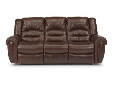 Flexsteel LEATHER RECLINING SOFA MOSOFS1210