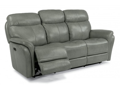 Flexsteel LEATHER RECLINING SOFA MOSOFS1653