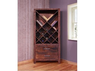 International Furniture Direct IFD770BKCS WINE
