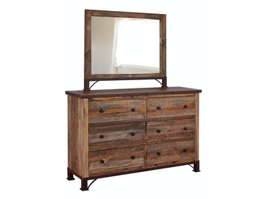 International Furniture Direct 6 DRAWER DRESSER BDDRIF966DSR