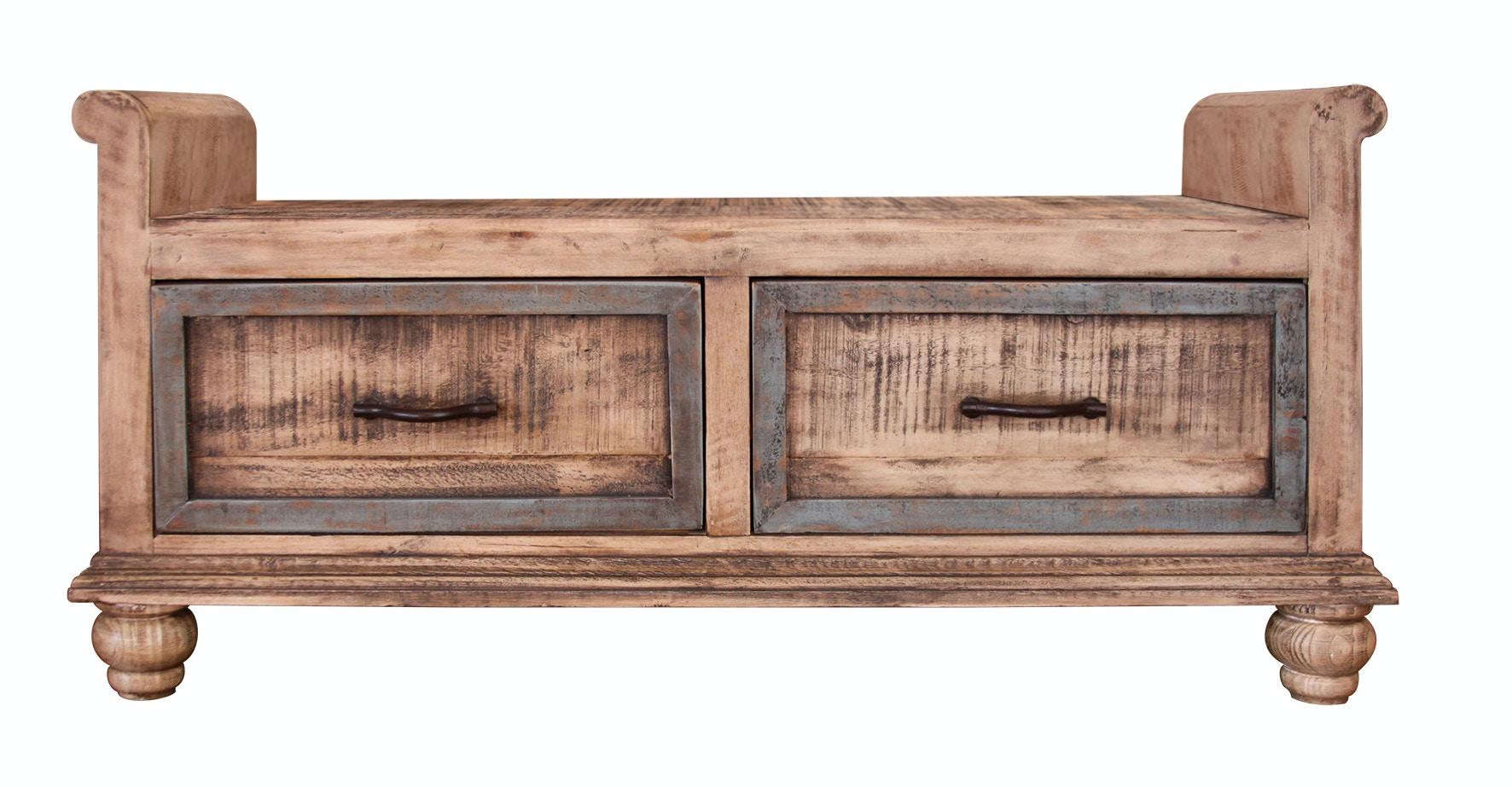 International Furniture Direct Bedroom Storage Bench