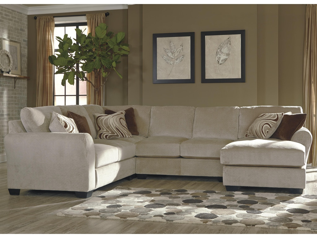Ashley Living Room 4 Piece Upholstered Sectional Uppkas65701a American Factory Direct Baton