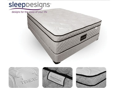 Sleep Designs Angie Euro Style Queen Mattress and Foundation BEPKKKANGIEC