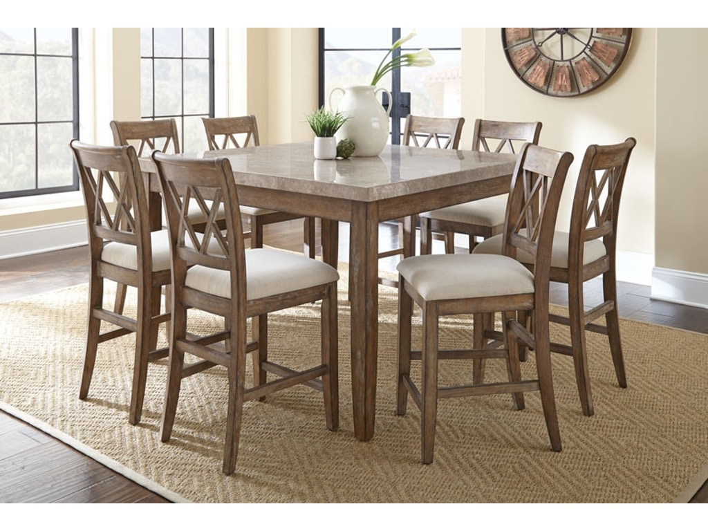 Steve silver dining room franco pub table and four chairs - Silver dining table and chairs ...