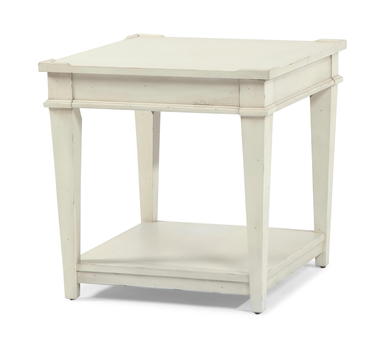 TY Living Room Azalea End Table Whipped Cream 718329   FurnitureLand    Delmar, Delaware