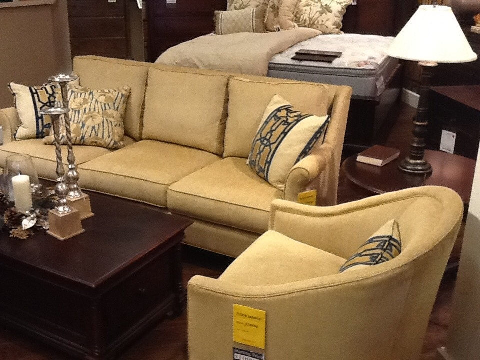 Clearance Thomasville Collection Sofa And Chair Sofa Was: $3749.00 Chair  Was: $1789 NOW 1299.00