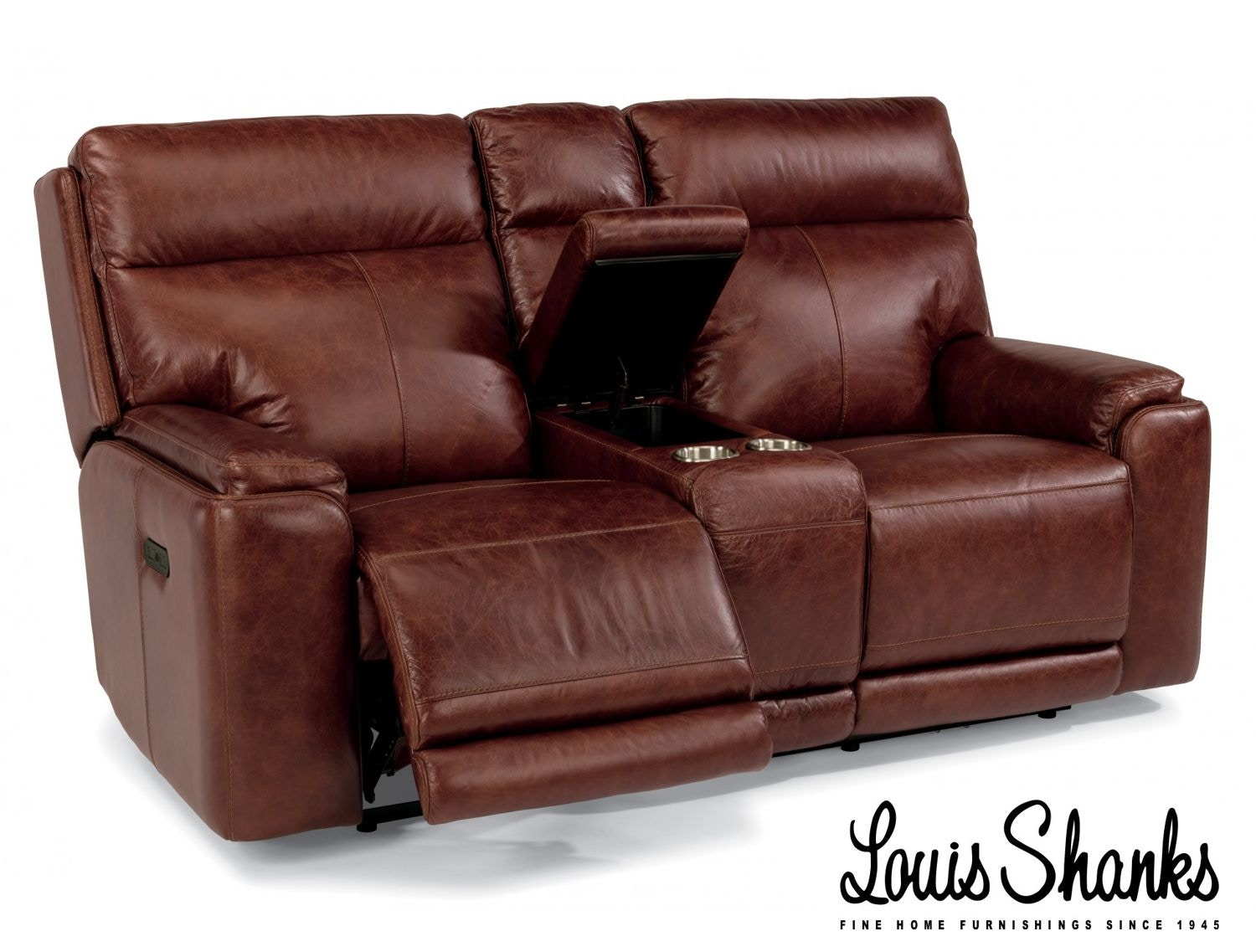 Flexsteel Sienna Leather Power Reclining Loveseat with Power Headrest and console  sc 1 st  Louis Shanks & Living Room Loveseats - Louis Shanks - Austin San Antonio TX islam-shia.org