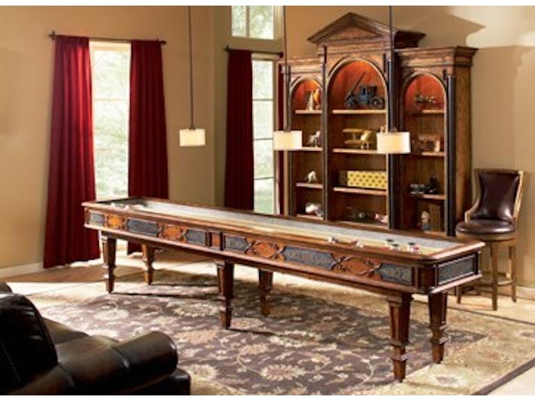 Ambella home bar and game room elegant scroll shuffleboard for Home bar furniture in san antonio