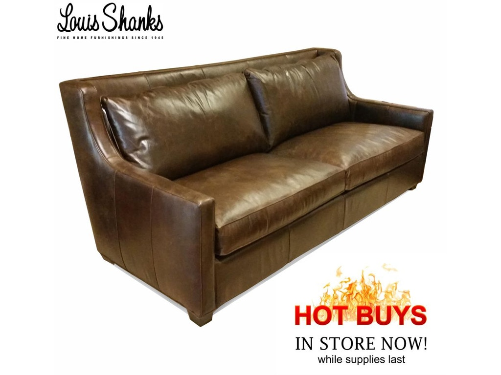 Living Room Sofas Louis Shanks Austin San Antonio TX - Mahogany leather sofa