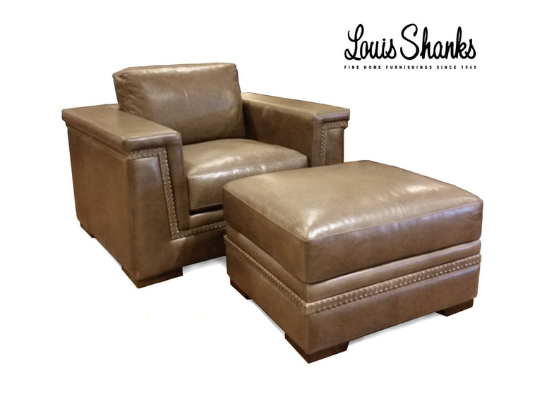 Artistic Leather Chair and Ottoman Set with Hand Lacing AL-1221-1-S/-00