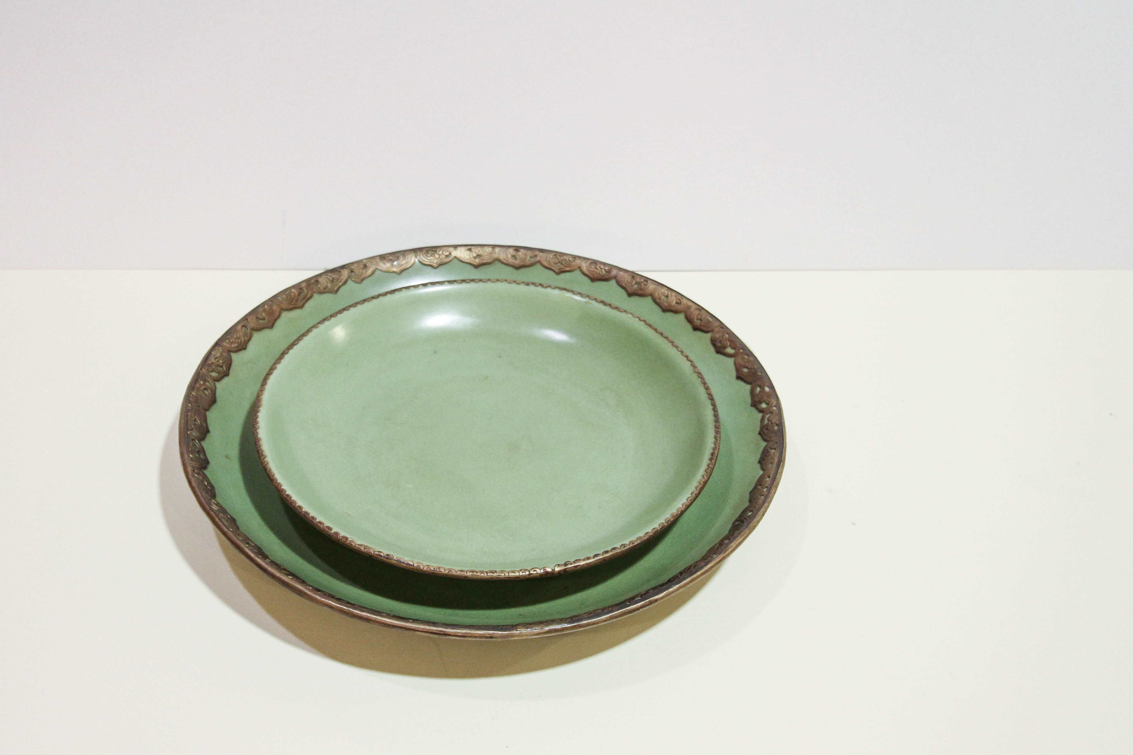 Closeout Set of 2 Celadon Dishes & Accessories Furniture - Louis Shanks - Austin San Antonio TX