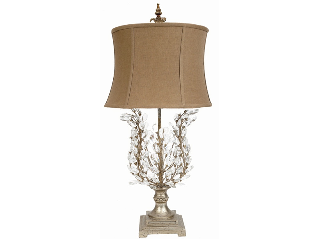 Old world design accessories crystal leaf table lamp la for Table lamps austin tx