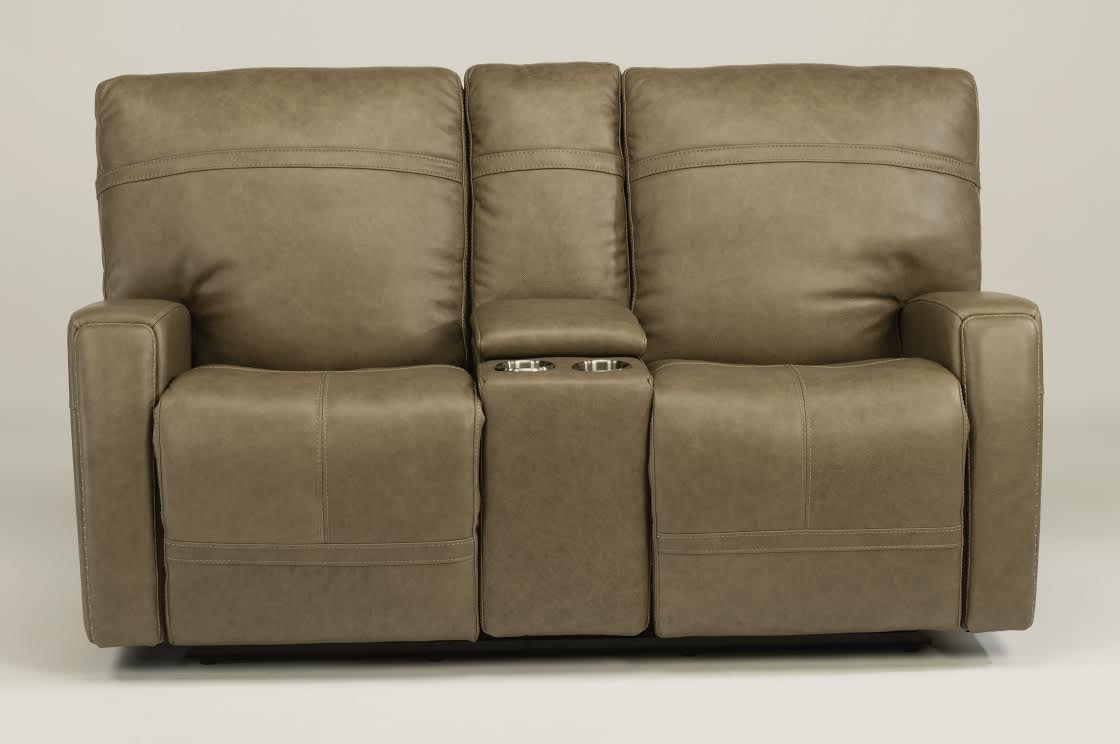 Flexsteel Bronx Granite Reclining Loveseat with console and articulating headrest. 1167-64PH & Flexsteel Living Room Bronx Granite Reclining Loveseat with ... islam-shia.org