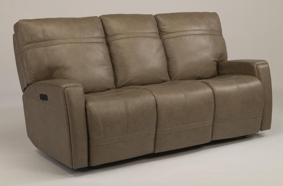 Bronx Granite Reclining Sofa With Articulating Headrest.