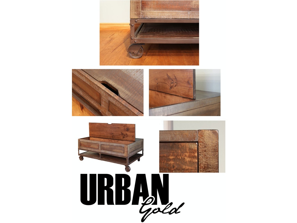 International Furniture Direct Urban Gold Lift Top