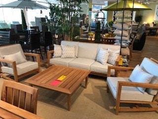 Kingsley Bate Natural Teak Seating Set. 40% Off Floor Model