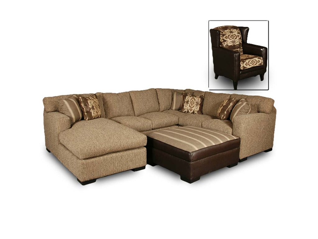 Intermountain Furniture Living Room American Landmark Sectional 1202a Mountain Comfort