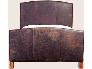 Distressed Leather Queen Bed