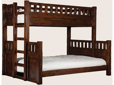 Twin over Full Bunk Bed w/ Built-in Ladder