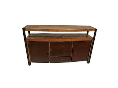 Reclaimed wood and Metal Sideboard & Media