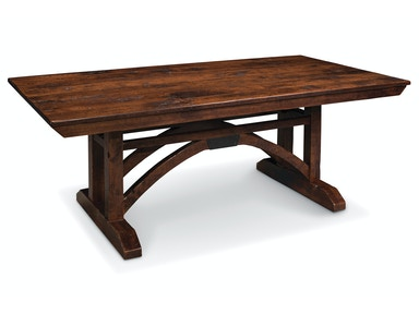 B&O Railroad© Trestle Bridge Trestle Table with butterfly leaf end