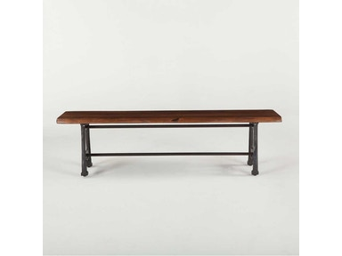 "Birmingham Bench 68"", walnut, antique zinc base"
