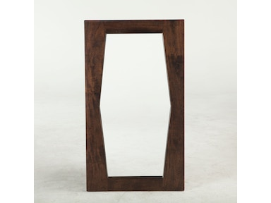 "MIDCENTURY LUXE MIRROR 40"" , DARK WALNUT"