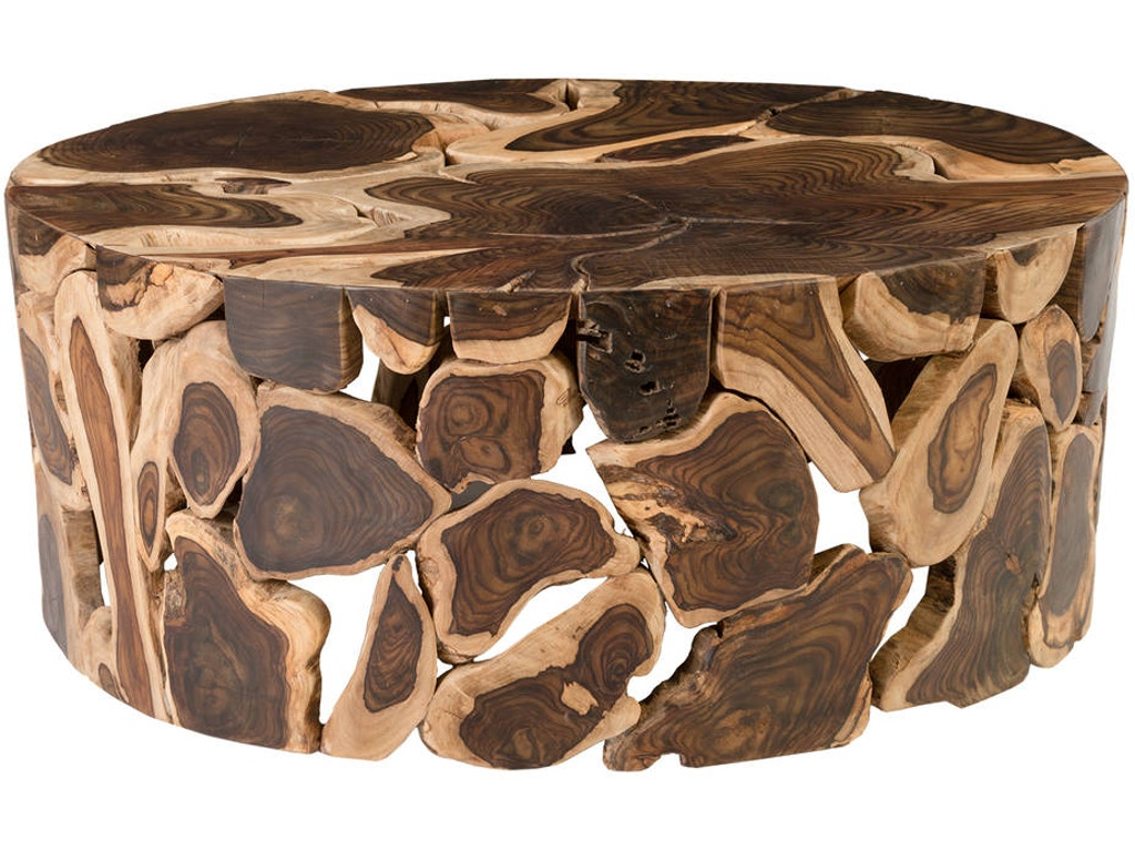 Cpi Living Room Wood Slice Coffee Table Id799221 Mountain Comfort Furnishings Summit County