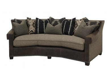 Leather Fabric 1 Cushion Angle Sofa
