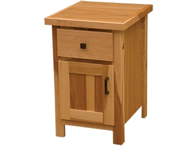 Simply Hickory Enclosed Nightstand