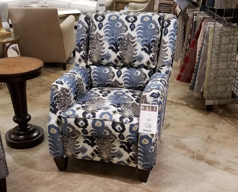 Marshfield Furniture RUSSELL CHAIR, AS SHOWN: FABRIC:6301 20 PASHATEX  INDIGO,