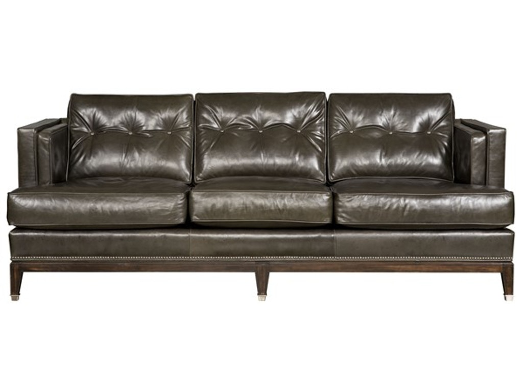 Vanguard living room whitaker leather sofa cl18 dmr for Leather sofa michigan