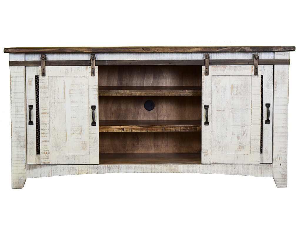 Diy rustic dining room tables - Vintage Home Accents 80 Sliding Barn Door Console 14513 2