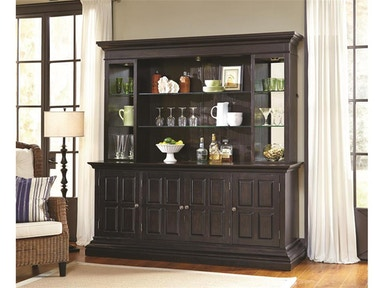 Pulaski Furniture Includes Bar Hutch and Back Piers (Excludes Bar Base) 675904 COMPLETE TOP