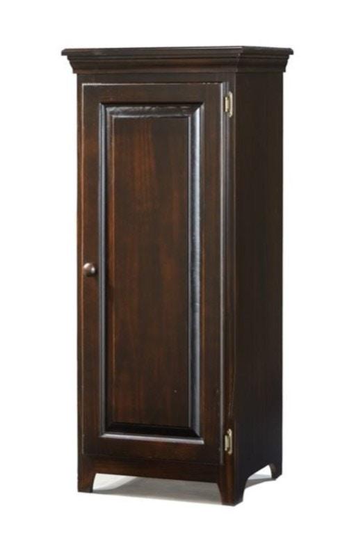 Archbold Solid Pine Wood 1 Door Cabinet With Doors In Rustic Brown ARC574