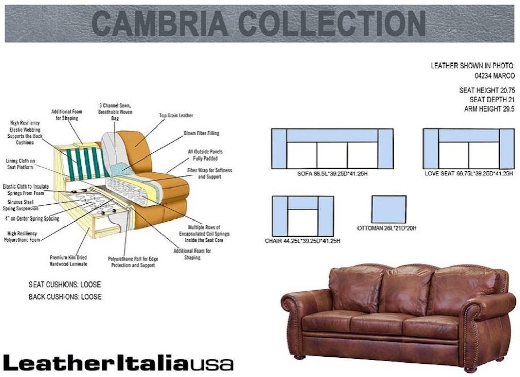 Leather Italia Usa Arizona All Sofa 6110