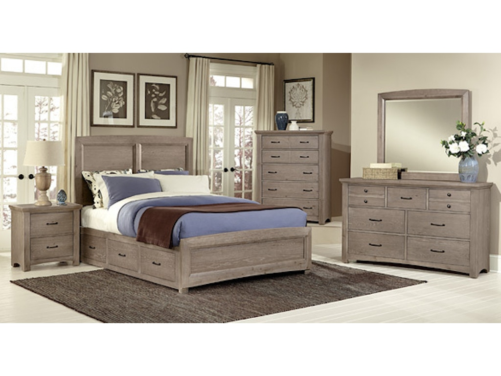 Driftwood Bedroom Furniture Bedroom Vaughan Bassett Transitions Collection Driftwood Bb61