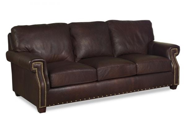 Carolina Custom Leather Living Room Hancock Custom Leather Sofa