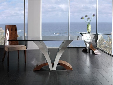 Polished Steel/Glass Table 10231