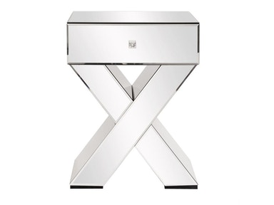 X Shaped End Table 10001