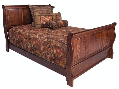 Abalone Sleigh Bed