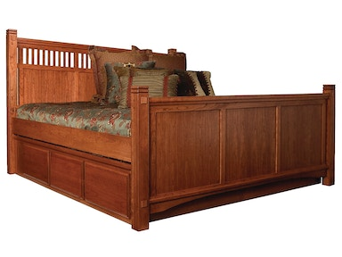 Abalone Panel Bed & Drawers