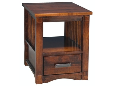 Abalone Spencer 1 Drawer End Table