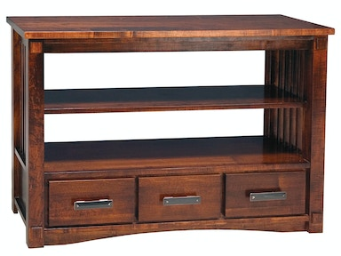 Abalone Spencer 3 Drawer Console Table