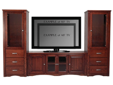 Abalone Spencer Entertainment Wall-26in Center - E