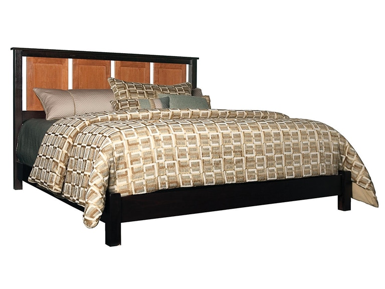 Abalone Panel Low Footboard Bed AW7012