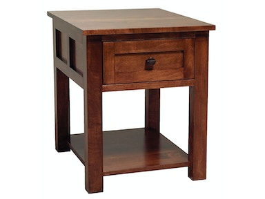 Abalone Sherwood 1 Drawer End Table