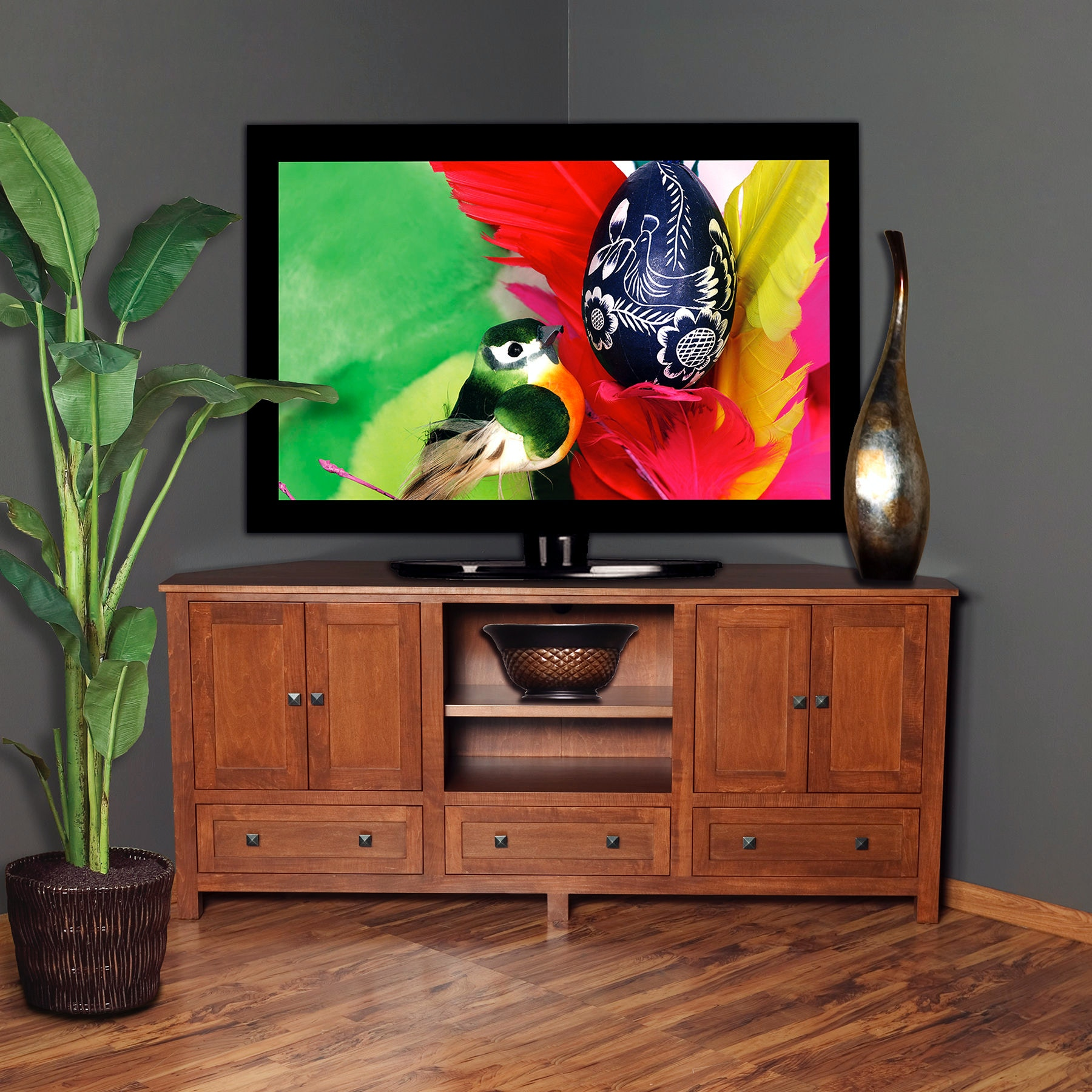 Exceptional Abalone Sherwood 36 Corner TV Stand   G AW7386 G