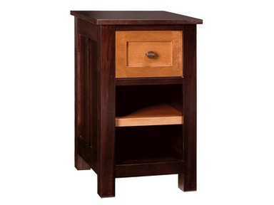 Abalone Saxon 17in 1 Drawer Nightstand
