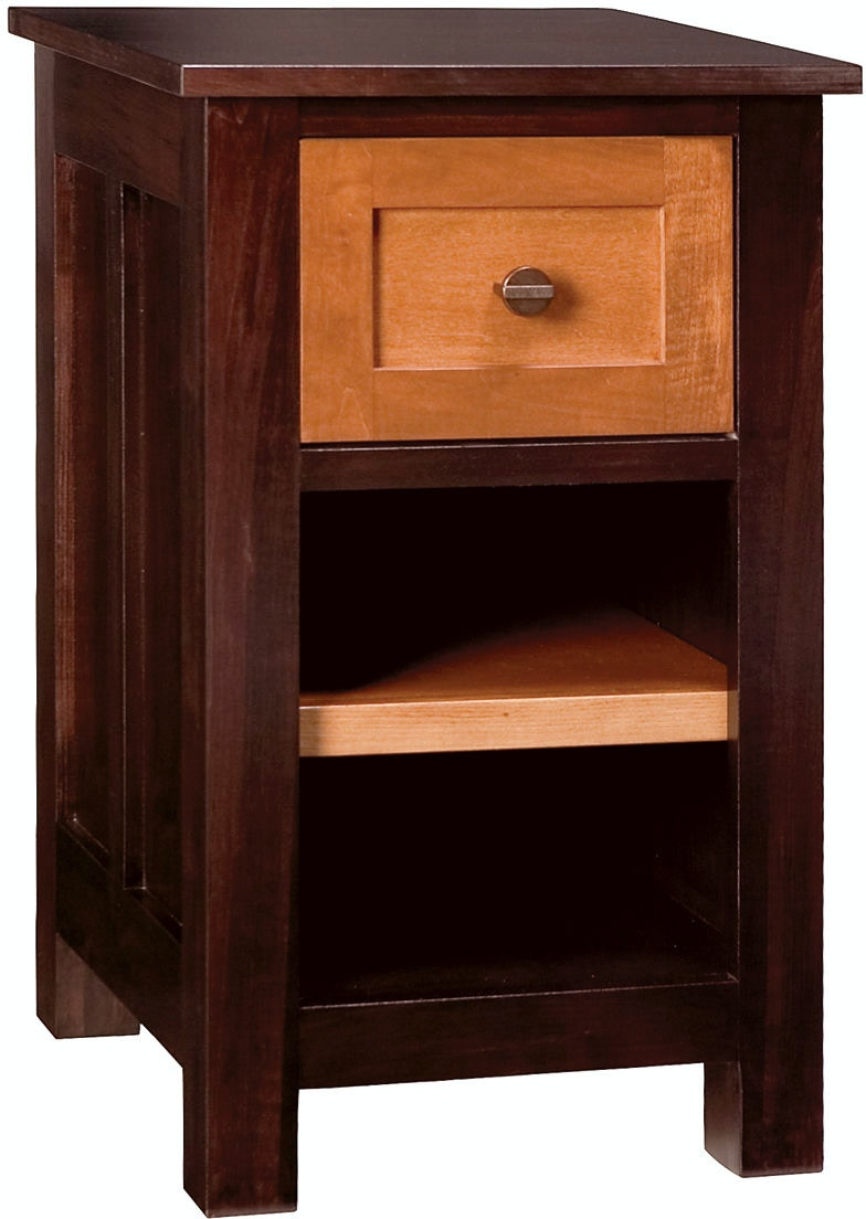 Abalone Bedroom Saxon 17in 1 Drawer Nightstand Aw7911